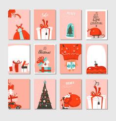 hand drawn abstract big merry christmas vector image