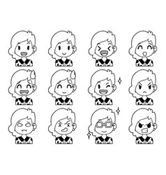 Hand drawn doodle collection cute funny avatars vector