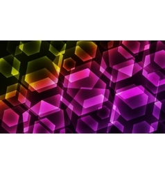 Hexagon Digital Technology Colorful Background vector image