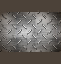 industrial metal plate with diamond non slip vector image