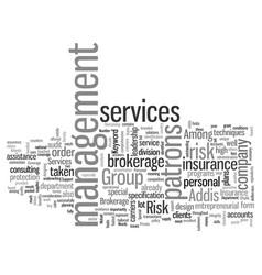 Insurance brokerage services vector