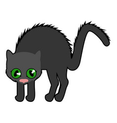 isolated cute black cat icon vector image