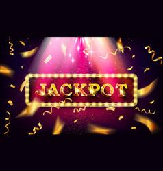 jackpot banner casino vector image