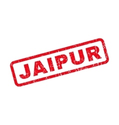 Jaipur Rubber Stamp vector image