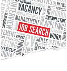 Job search word background broken paper vector