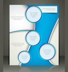 layout business flyer magazine cover or corporate vector image