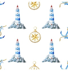 Lighthouse pattern vector