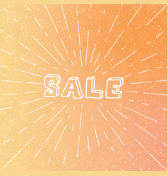 linear sale poster on gradient background vector image