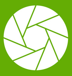Little objective icon green vector