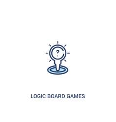 Logic board games concept 2 colored icon simple vector