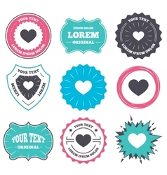 Love icon Heart sign symbol vector image