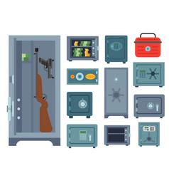 Money safe steel vault door finance business vector