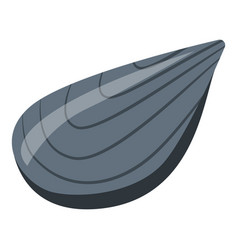 Mussel clam icon isometric style vector