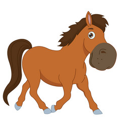 of a cartoon horse vector image