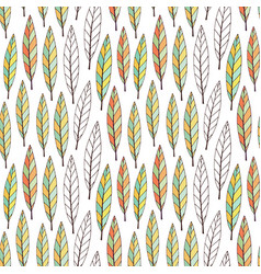 Pattern with bright autumn leaves seasonal vector