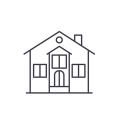 private house line icon concept private house vector image
