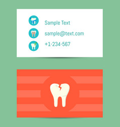 professional business card for dentists vector image vector image