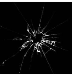 Realistic broken glass vector