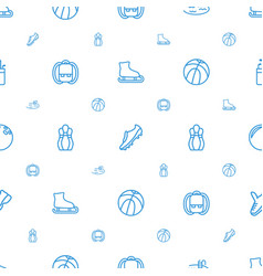 recreation icons pattern seamless white background vector image
