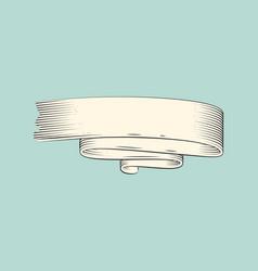 Ribbon stripe icon sketch vector