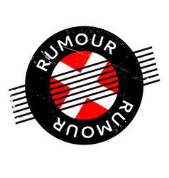 rumour rubber stamp vector image