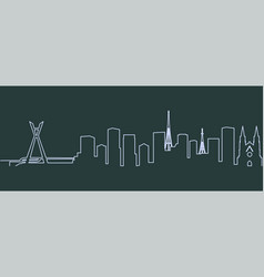 sao paulo single line skyline vector image