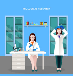 scientists people colored composition vector image
