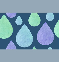 seamless pattern raindrops textured vector image