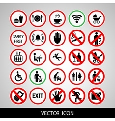 Set a public icon vector image