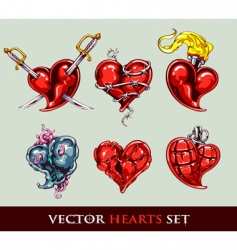 Set of vector tattoo stylized vector