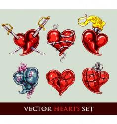 Set tattoo stylized vector