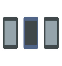 Smartphone set collection icon flat style vector