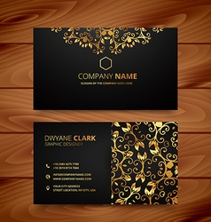 Stylish golden premium luxury business card vector