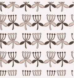 stylized flower stripes seamless pattern vector image