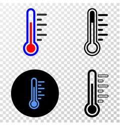 temperature eps icon with contour version vector image