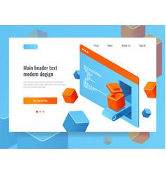 Website development concept search engine vector