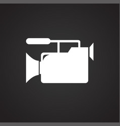 Wedding videography icon on black background for vector