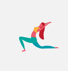 woman doing yoga exercises cartoon character vector image
