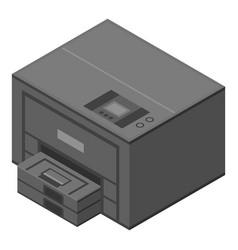 xerox printer icon isometric style vector image