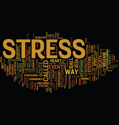 Your brain s response to acute stress text vector