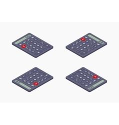 Black isometric calculator vector image vector image