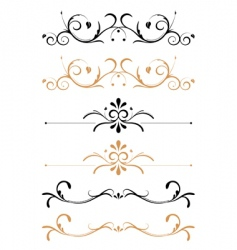 floral page decorations vector image vector image