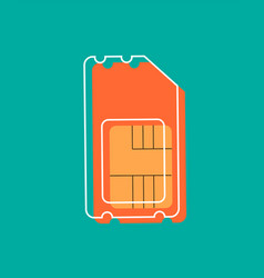 sim card icon flat design style modern vector image