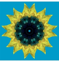 sunflower crystal vector image