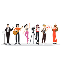 collection of different career professions vector image vector image