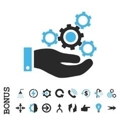 Mechanics Service Flat Icon With Bonus vector image