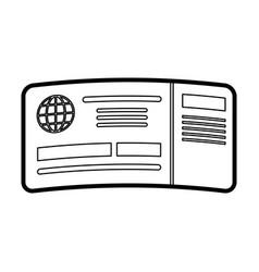 passboard vector image