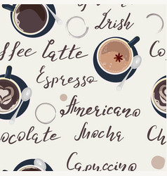 pattern with cup of coffee vector image