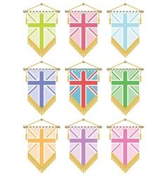 uk flag pennants vector image vector image
