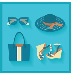 Women fashion accessories icons set vector image vector image